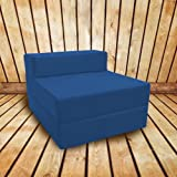 Shopisfy Waterproof Slipcover For Single Fold Out Z Bed - Blue