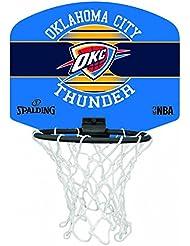 Spalding NBA Miniboard Oklahoma City 77-659Z Minicanasta, Multicolor, Talla Única