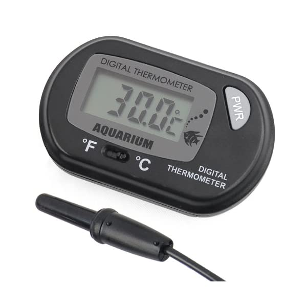 DIGIFLEX Digital Thermometer for Fish Tank – Temperature Thermometer – Aquarium Marine Vivarium – Electronic Thermometer…