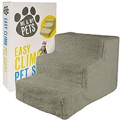 Me & My Pets Easy Climb - Haustiertreppe mit Fleece-Bezug - Grau