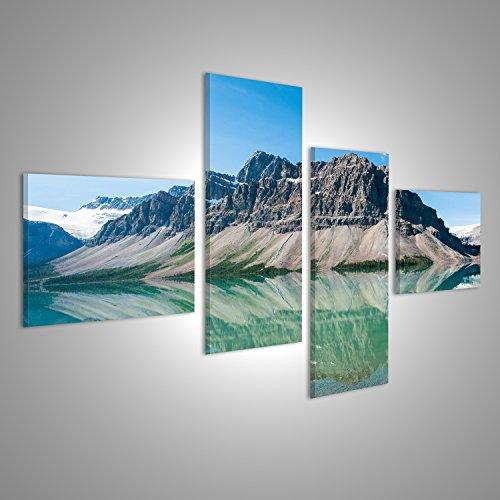 Bild Bilder auf Leinwand Bow Lake im Banff Nationalpark, Kanada Verschiedene Formate ! Direkt vom Hersteller ! Bilder ! Wandbild Poster Leinwandbilder ! FKJ
