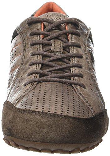 Geox Uomo Snake A, Sneakers Basses Homme Marron (Ebonyc6027)