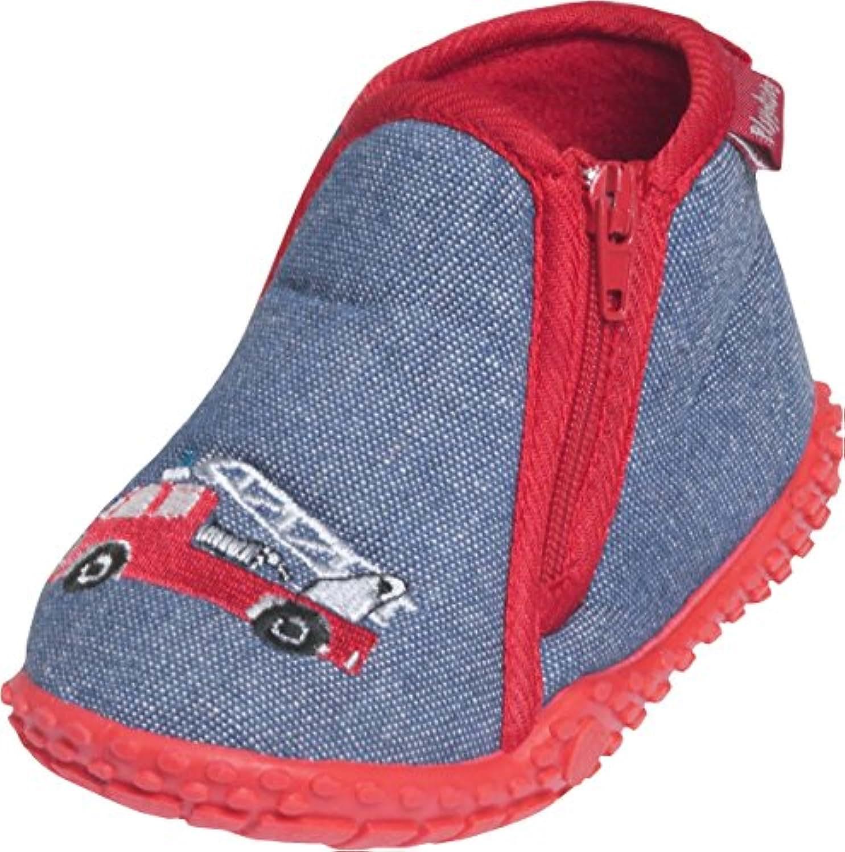 Playshoes GmbH Firebrigade, Unisex Babies' Walking Baby Shoes, Blue (jeansblue), 2.5 Child UK (18/19 EU)