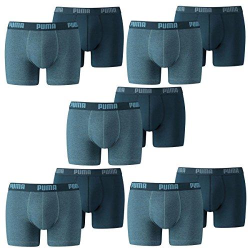 puma-herren-basic-boxer-boxershort-unterhose-10er-pack-denim-l