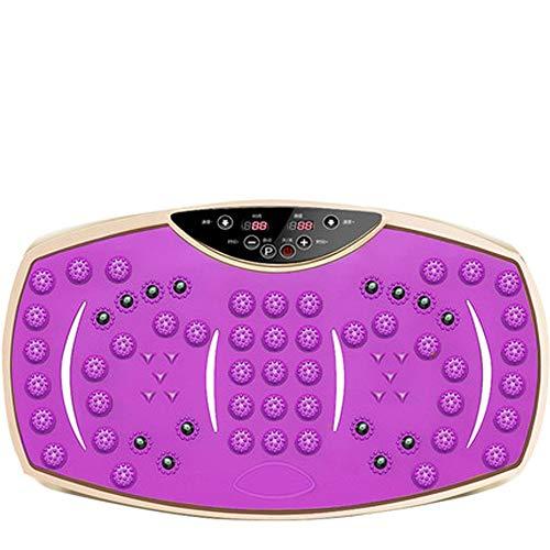 CWDXD 3D Vibrationsplatte Oszillierend, Geräuschloser Motor, simulierende Fußmassage, Stimulierung der Fußsohlen, Durchblutung der Waden, hochauflösender Touchscreen,Purple