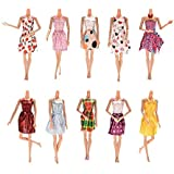 Baokee® 6/12PC Barbie Fashion Mix Match Doll Accessories for Baby Girl