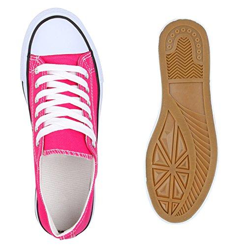 Damen Sneakers Low-Top Basic Turnschuhe Freizeit Schuhe Pink