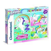 Clementoni 25231 Clementoni-25231-Supercolor-Unicorno 3 x 48 Pièces 25231-SupercolorUnicorn Brilliant-Puzzle 3x 48Pieces, Multi-Coloured