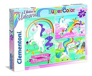 Clementoni-25231 Puzzle 3x48 Piezas Unicornios, Multicolor (25231)