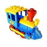 Lego Duplo Eisenbahn Nr 1 blau Schiebelok blau mit gelben Dach Lok Zug 4580 E22