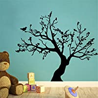 Birds Large Tree Vinyl Wall Decal Home Decor Living Room Black DIY Art Mural Removable Branches Wall Stickers