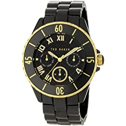 Ted Baker TE4057 Women's Black Ceramic Multi Dial Bracelet Watch