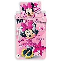 Jerry Fabrics Juego de Cama paraNiñoscon Cremallera, Diseño Mickey and Friends, Algodón, Rosa, 200x140x0.5 cm