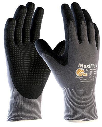 Handschuh MAXIFLEX PLUS Nylon genoppt EN 388 KAT 2 Taster Handschuhe (8) (Nylon-handschuhe Schwarzer)