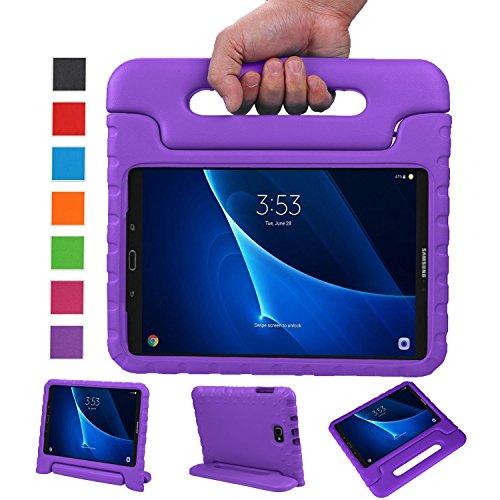 BELLESTYLE Samsung Galaxy Tab A 10.1 Zoll EVA Stoßfeste Schutzhülle Tragbar für Kinder mit Ständer Schutzhülle Standfunktion für Samsung Tab A 10.1 (SM-T580 / SM-T585) Tablet 2016 Veröffentlichung, Lila