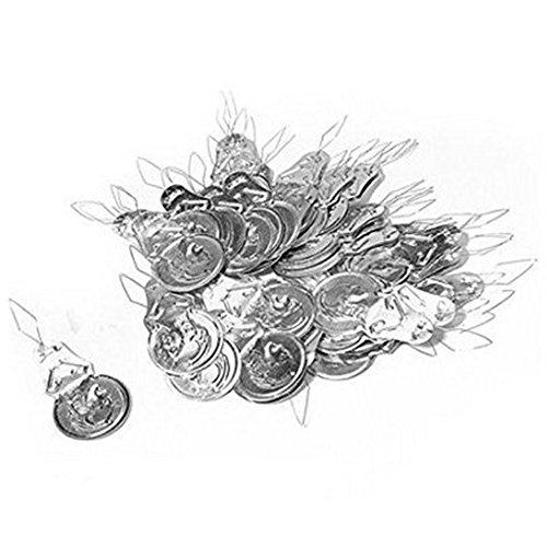Kanggest 100Pcs Vintage Tone Wire Loop DIY Aguja Threader