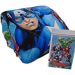 "Edredón para cama individual (1plaza), de invierno, con estampado ""Marvel / The Avengers"", de microfibra"