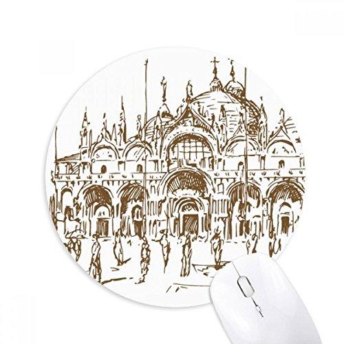 ianische Kirche Venetian Runde Griffige Gummi Mousepad Spiel Büro Mauspad Geschenk ()