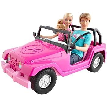 barbie v0834 poup e et ken voiture d capotable de. Black Bedroom Furniture Sets. Home Design Ideas