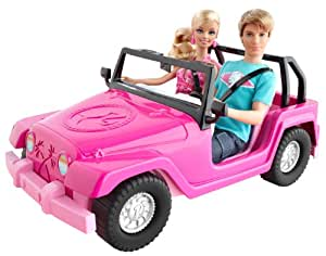 barbie v0834 poup e et ken voiture d capotable de plage jeux et jouets. Black Bedroom Furniture Sets. Home Design Ideas