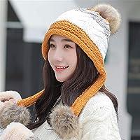 HUAIX Home Sombrero de Invierno Versión Coreana Femenina de la Moda de la  Marea Orejeras Gorro cde51ff42ea0