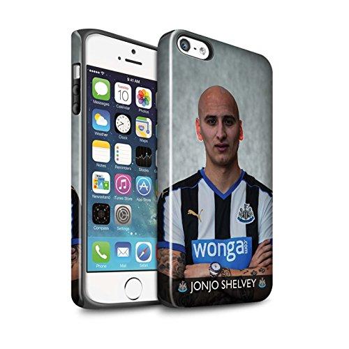 Offiziell Newcastle United FC Hülle / Glanz Harten Stoßfest Case für Apple iPhone 5/5S / Pack 25pcs Muster / NUFC Fussballspieler 15/16 Kollektion Shelvey