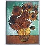 Design Toscano 1888de girasoles Art Glass, multicolor