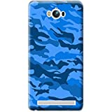 Bloody Branded Back Case For Asus Zenfone MAX | Asus Zenfone MAX Back Cover | Asus Zenfone MAX Back Case - Printed Designer Hard Plastic Case - Camouflage Theme(Blue & Royel Blue)