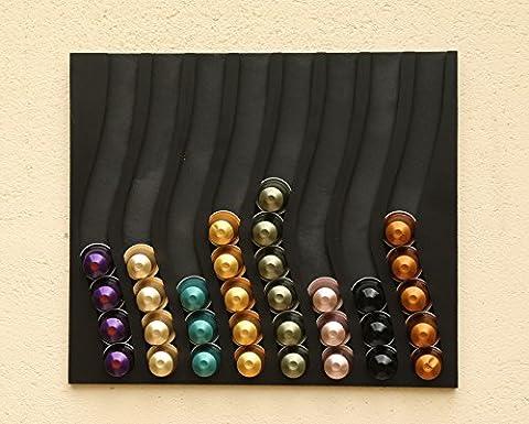 porte capsules distributeur nespresso dosettes recharges (noir)