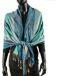 caripe eleganter großer Damen Schal Stola XXL Hals-Tuch Blumen Paisley Muster - stol99