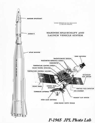 poster-a3-nasa-mariner-diagram-1965-a-diagram-of-the-mariner-series-of-spacecraft-and-launch-vehicle