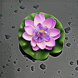 Hacoly Seerose Künstlich Blumen Lotus kunstblumen Köpfe Wasser Künstliche Blume Für Hochzeit Party Fest Haus Büro Bar Dekor Hochzeit Party Garten Festival Pool Dekorationen Geschenk - Lila