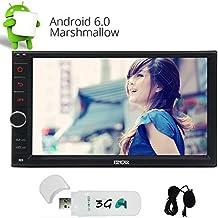 Android 6.0 Auto Auto Radio Stereo-Eincar Doppel-DIN-Head Unit 7 Zoll-Auto GPS-Navigationssystem Unterstützung Bluetooth Schirm Mirroring WIFI OBD SWC USB SD FM / AM RDS-Radiogerät mit externem Mic & 3G Dongle inklusive!