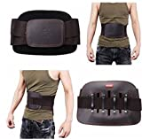 Size: S JIAHE Leather Lumbar Back Suppor...