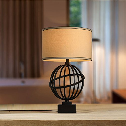 FJH Lampe de table créative rétro américain LED nouvelles lumières décoratives d'art de personnalité circulaire de LED