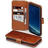 Galaxy S8 Plus Case, Terrapin [ECHT LEDER] Brieftasche Case Hülle mit Standfunktion Kartenfächer und Bargeld für Samsung Galaxy S8 Plus Hülle Cognac