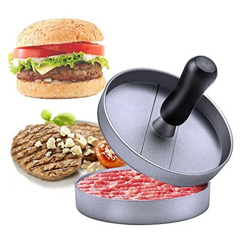 Niviy Hamburgerpresse Set Hamburger Form Burger Maker Antihaft Patty Schimmel, Ideal für Burger, Hamburger, Patties, Presse, Beste Küche und Grillen Zubehör, Grill aus Aluminium