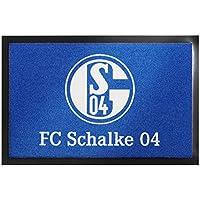 Fußmatte - FC Schalke 04   Fußball Geschenke   Türvorleger mit Spruch   Schalke Fanartikel   Schmutzmatte Eingangsbereich   Geschenk für Männer   Preis am Stiel®
