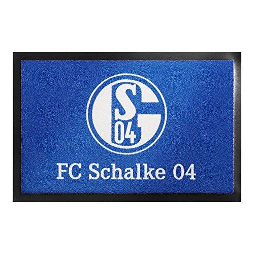 Fußmatte - FC Schalke 04 | Fußball Geschenke | Türvorleger mit Spruch | Schalke Fanartikel | Schmutzmatte Eingangsbereich | Geschenk für Männer | Preis am Stiel® (Geboren Wohnungen Für Frauen)
