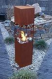 Feuersäule Ranke Edelrost Rost Metall Gartendeko Garten Stele Fackel Feuer Säule