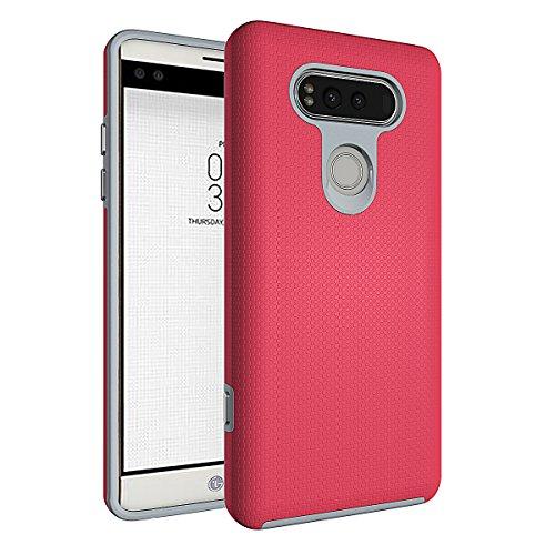 Slynmax Coque LG V20 Rouge Coque LG V20 Mode Housse TPU Slim Bumper Souple Silicone Etui Housse de Protection Flexible Soft Case Cas Couverture Anti Choc Ultra Mince Légère Coque pour LG V20