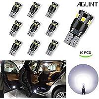 AGLINT T10 W5W CANBUS Coche LED Bombillas 12V 6000K 194 168 2825 Para Coches Luces De La Matrícula Posición Laterales Iluminación Interior Luces Laterales (T10 9W CANBUS)