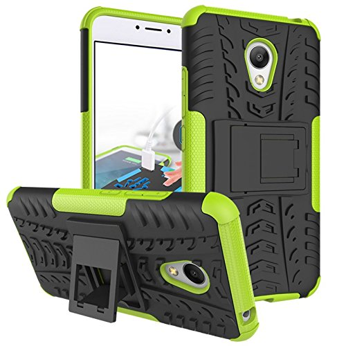 Chevron Hybrid Military Grade Armor Kick Stand Back Cover Case for Meizu M3 Note (Green)  available at amazon for Rs.125
