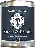 OLI-NATURA Yacht- und Teaköl (Holzöl zum Schutz von Hart- und Exotenhölzern im Außenbereich), Natur