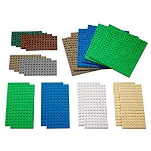 LEGO 9388 Education - Piastre Piccole, 22 Pezzi, Colori Assortiti LEGO Classic LEGO