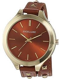 Excellanc Damen-Armbanduhr Analog Quarz Kunstleder 199207500001