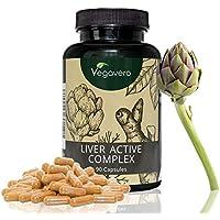 Liver Active Complex | Suplemento Hígado: Detox + Colesterol | Alcachofa + Cúrcuma + Diente