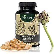 Liver Active Complex Vegavero | 90 Kapseln | Cholin - Zichorie – Artischoke – Löwenzahnwurzel – Kurkumin | eine Alternative zu Mariendistel | Hochwertige Extrakte | Vegan und OHNE Zusatzstoffe