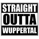 Wadeco Straight Outta Wuppertal Wandtattoo Wandsticker Wandaufkleber 35 Farben verschiedene Größen, 125cm x 111cm, flieder