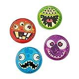 4 x Monsterpuzzle Puzzle Kugelspiel Monster Monsterparty Geburtstag Giveaway Mitgebsel Kindergeburtstag Halloween